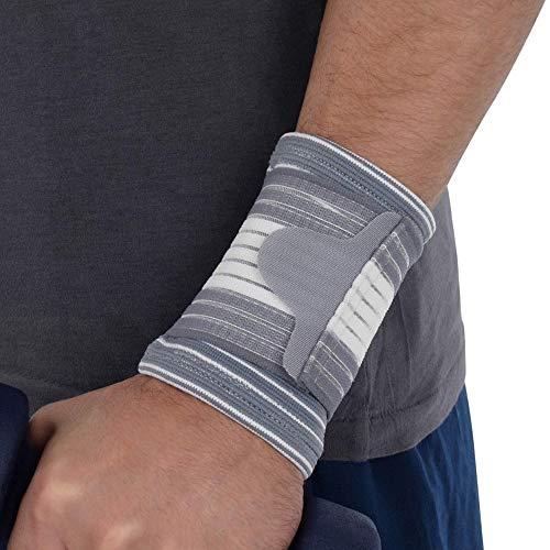 Fußschutzärmel Kompression, Lanking elastische Unterstützung Ellenbogenbandagen Bandage Recovery Brace (braunes weißes Handgelenk, 1PC) -