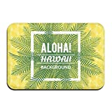 dewdferf Non-Slip Doormat Aloha Hawaii Durable Mats rug Bathroom Bedroom Floor Carpet