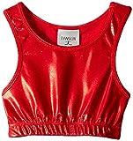 Danskin Little Girls' Gymnastics Basics Crop Top, Red, Intermediate