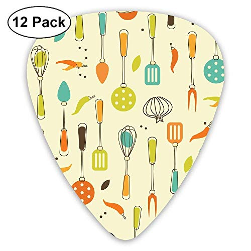 Classic Guitar Pick (12 Pack) Foods Kitchen Tools Player's Pack for Electric Guitar,Acoustic Guitar,Mandolin,Guitar Bass - Guitar Kitchen Tools