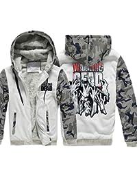 Tookang Homme Hiver Chaud Polaires Doublé Sweats à Capuche Cotton Manteaux  Doux Blousons Sweat-Shirts c45dab82d921