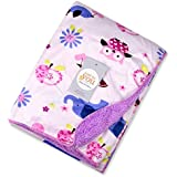 Baby Bucket Double Layer Velvet Fleece Newborn Printed Baby Blanket (VEL 76X102 APL+EL+OW)