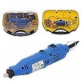 kkmoon AC 110–220V 180W amoladora Set con 211accesorios, ajustable velocidad multilijadora con Flexible onda Caja para DIY gravieren fresar pulir taladrar Cortes lazos azul