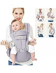 Viedouce Ergonomico Portantina per Bebè,Baby Carrier,Puro Cotone Marsupio Neonato Porta Bebè Ergonomico Progettato Multiple Posizioni,Zaino Trasporto Bebè,Traspirante Sicuro e Comodo