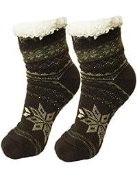 Ferocity Hombre Calcetines térmicos ricos en algodón para resbalón para el invierno ...
