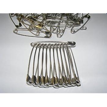 25mm 44mm com-four/® 200-teiliges Set Sicherheitsnadeln aus Metall 34mm 29mm in 4 verschiedenen Gr/ö/ßen