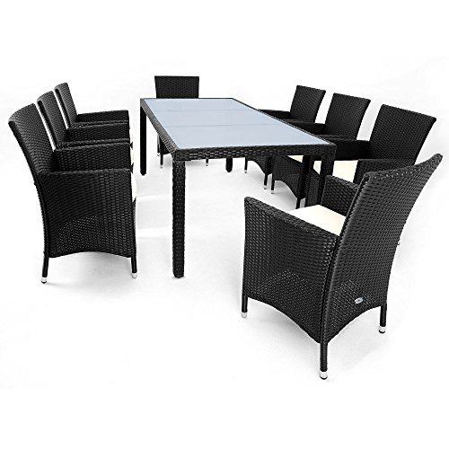 17tlg PolyRattan Sitzgruppe Gartenmöbel Gartenset Lounge Rattan Gartengarnitur Essgruppe Rattan - 8