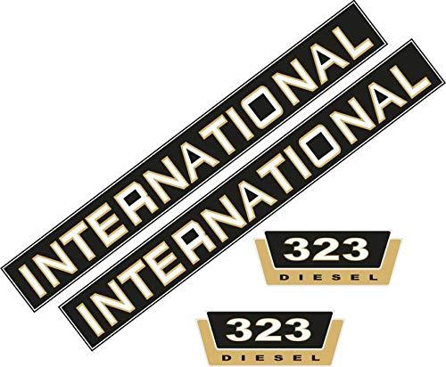 323 Aufklebersatz Schriftzug Case/iH 323 IHC, Traktor, Schlepper - Case Ih International