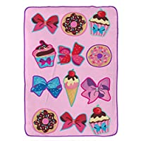 Nickelodeon Jojo Siwa Follow Your Dreams Pink Plush 160cm x 230cm Twin Blanket
