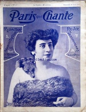 PARIS QUI CHANTE [No 117] du 16/04/1905 - BERTHA