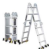 ZHIRONG Scala Telescopica Alluminio Multi Scopo Pieghevole Scaletta Di Estensione Robusto Combinazione Prodotto Secondo EN131 Fino A 330 Libbre
