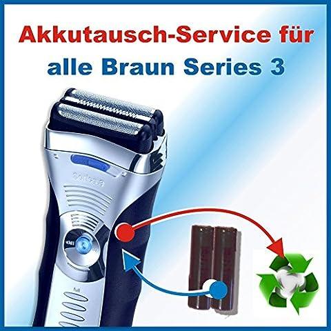 Premium Akkuwechsel für alle Braun Rasierer der Series3 mit vorab