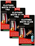 VALUE PACK of 3 Rentokil Clothes Moth Glue Traps - Natural Moth Traps