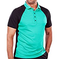 BF Links Pro Stripes Men`s Golf Polo Shirt