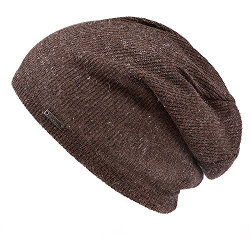 Casualbox Homme lumiÚre poids respirant bonnet tricoter chapeau tombant bouffant brun
