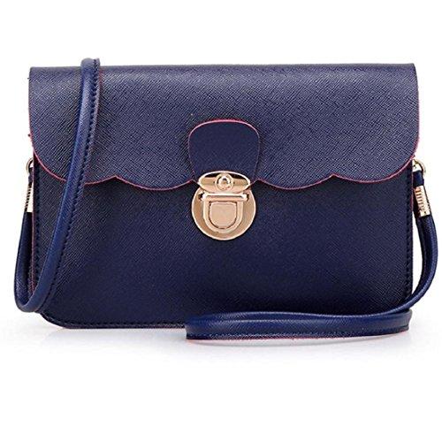 Vovotrade® Le donne di spalla del cuoio della borsa del Hobo Messenger (Rosa) Profondo blu