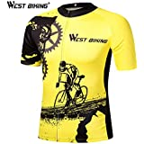 West Biking Bicycle Short Sleeve Jersey Ciclismo Ropa Cycling Spandex Mtb Short Sleeve Bike Clothing Summer Cycling Jerseys
