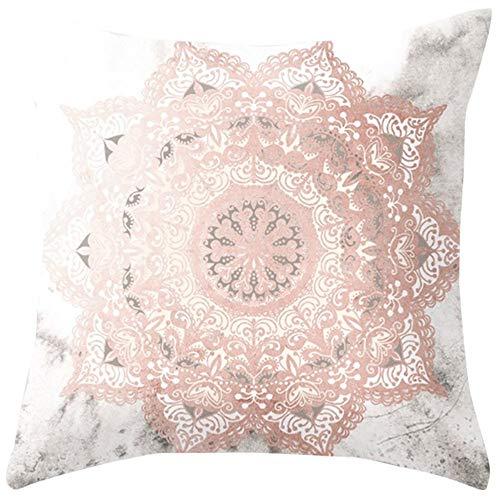 Yazidan Rose Gold Rosa doppelseitiger Kissenbezug Home Decoration Auto-Sofa-Kissenbezug Kissenbezug Platz Haus Dekoration Mikrofaser Einfache Farbe Protektoren 45x45cm