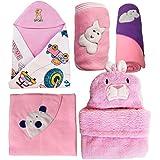 My Newborn Baby Fleece Blanket Gift Set, Baby Pink (Pack of 5)