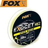 Fox Exocet MK2 Spod Braid 0,18mm 9,07kg 300m yellow - Angelschnur zum Karpfenangeln, Geflochtene Schnur für Karpfen, Karpfenschnur
