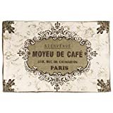 Tappeto vintage Paris 60 x 90 cm, 100% cotone, tappeto per corridoio o cucina marrone