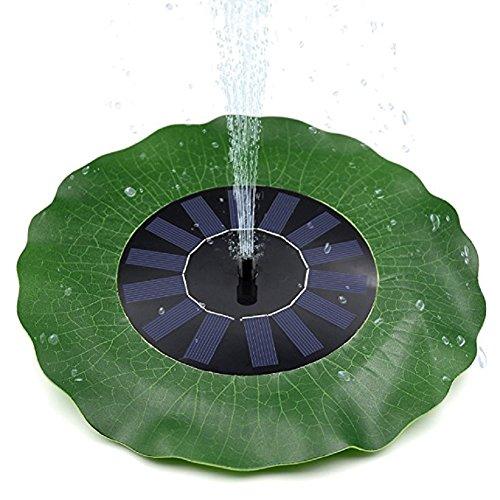 Handfly solare fontana per giardino solare fontana pompa sommergibile solare pompa acqua per stagno uccello bagno cortile giardino acquario verde lotus-foglia solare fontana pompa alimentato kit