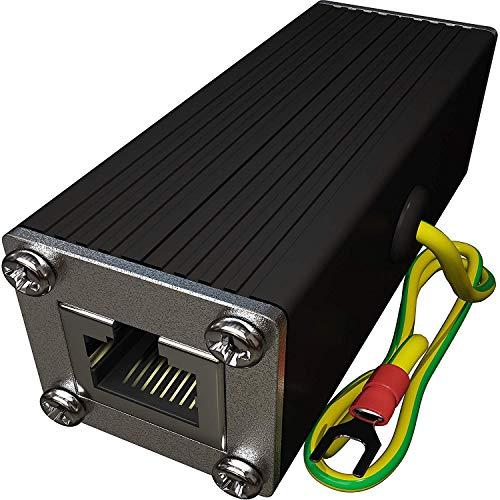 Tupavco TP302 Ethernet Überspannungsschutz PoE+ Gigabit GDT für Überstrom Schutz -Blitzschutz RJ45 Protektoren -LAN Netzwerk Kabel Blitzableiter -Ethernet Surge Protector -