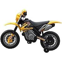Festnight Motocicleta para Niños Eléctrica Amarillo