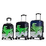 Valise De La Mode Trolley Cas Dessin Animé Mignon Dinosaure D'Embarquement 18 Pouces