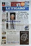 FIGARO (LE) [No 20586] du 08/10/2010 - MARIO VARGAS LLOSA PRIX NOBEL DE LITTERATURE - 97 DEPUTES UMP POUR LA FIN DE L'ISF ET DU BOUCLIER FISCAL - LA FORTE HAUSSE DE L'EURO AFFAIBLIT LES ENTREPRISES - UNE LANGUE OUBLIEE DECOUVERTE EN INDE - LE DERNIER DEFILE DE JEAN-PAUL GAULTIER POUR HERMES - LES SPORTS - MICHELLE OBAMA ELUE FEMME LA PLUS INFLUENTE DU MONDE LE DANUBE POLLUE PAR LES BOUES TOXIQUES - RETRAITES / LE GESTE DE SARKOZY - LA BATAILLE D'HADOPI