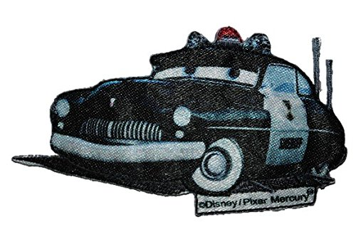 Cars - Sheriff 8,8 cm * 5 cm Bügelbild Mercury Club Coupe Polizeiwagen Polizei ()