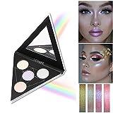 OYOTRIC Glitzer Lidschatten Auge & Lippe Make-up Textmarker Palette Schatten Shimmer Powder
