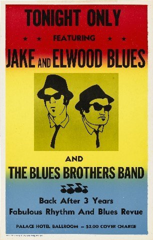 Blues Brothers Riproduzione Concert poster 40,6x 30,5cm