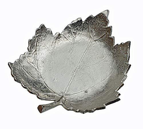 Fachhandel Plus Vogeltränke frostfest Aluminium in Blatt-Form Deko-Schale Futterschale Dekoteller Vogelbad