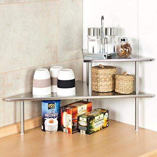 Bremermann mensola angolare per la cucina mensola porta - Mensole acciaio per cucina ...