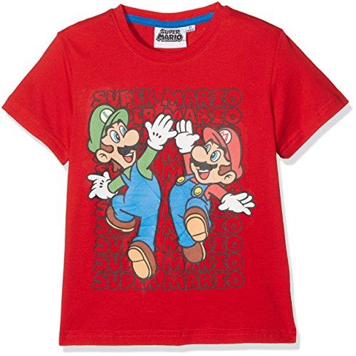 Super Mario Bros Chicos Camiseta manga corta - Rojo - 116