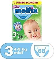 Molfix Anti Leakage Comfortable Midi Baby Diapers, 4-9 kg, 68 Count