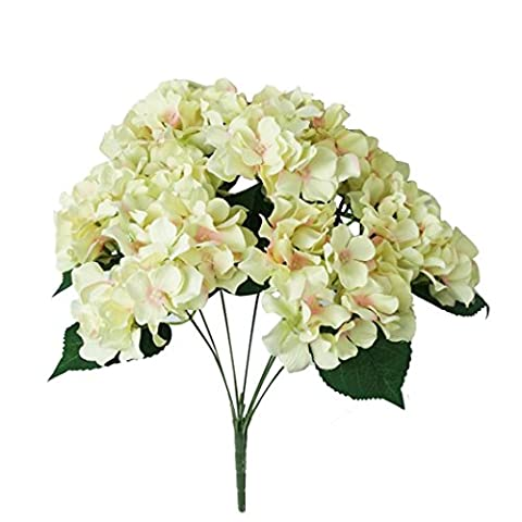 Covermason 7 Heads Bouquet, Artificial Hydrangea Silk Flower Bunch Home Hotel Wedding Party Garden Decor