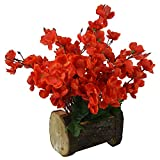 #9: Thefancymart Artificial Blossom Flowers ( 12 inch / 30 CMS) in Wood Buckle Pot-1580