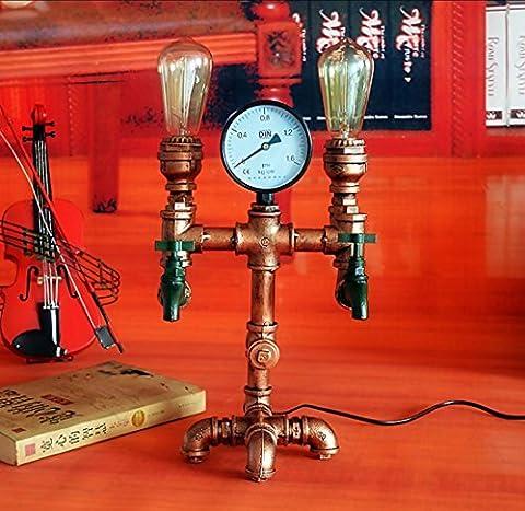 BD-Weinlese-Wasser-Rohr-Wand-helle Befestigung-industrielle Metalllampe Edison Weinlese-Rohr-Wand-dekorative Befestigungen Beleuchtung