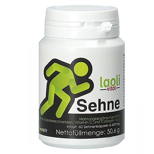 Nahrungsergänzungsmittel bei Sehnenerkrankungen I Laoli Vital Sehne I Kollagen, Vitamin C, Mangan, Mucopolysaccharide (60 Kapseln) -