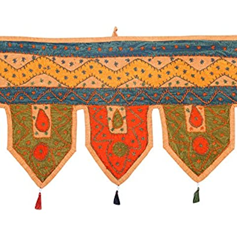 Colgante hecho a mano Decoración del hogar bordado remiendo Peach Puerta