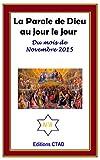 Telecharger Livres La parole de Dieu au jour le jour mois de Novembre 2015 (PDF,EPUB,MOBI) gratuits en Francaise