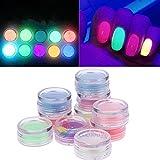 Best Nail Polish Neon Colors - AST Works 10 Colors Neon Pigment Nails Powder Review