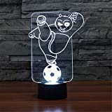 Yoppg Illuminazione 3D Lampade Led Luce Notturna 3D Optical Illusion 7 Colori Controllo Tattile Usb O Batteria Comodino Bambini Cameretta Regalo Di Natale Kung Fu Panda