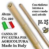 CANNA IN PLASTICA rinforzata ExtraResistente cm. 220 per Agricoltura (25 pezzi)