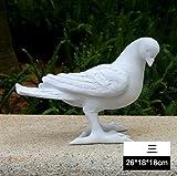 DJ Résine blanche artisanat sculpture pigeons/Accueil/simulation/création jardins immobilier jardin d'ornement/jardin ornements , 3...