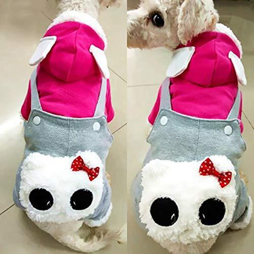 yu Hund Kleidung Paare lätzchen Teddy pet vierbeinigen Kleidung kleine welpen Katzen als Dicke Baumwolle Mantel trägt,s (Kostüme Halloween Paare Billig)
