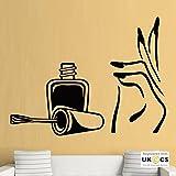 Smalto per unghie salone di bellezza ragazze camera da letto Wall Stickers Art adesivi in casa camera da letto delle ragazze dei ragazzi bambini casa zona Quotes Cucina Bagno Accessori murale