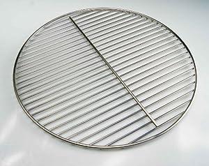 Ø 44,5 cm Edelstahl Grillrost rund für Kugelgrill 44 45 46 47 Weber Kohlerost Rundgrill geeignet, 4mm Stabdurchmesser!!! Grill, Rost, Rundgrill
